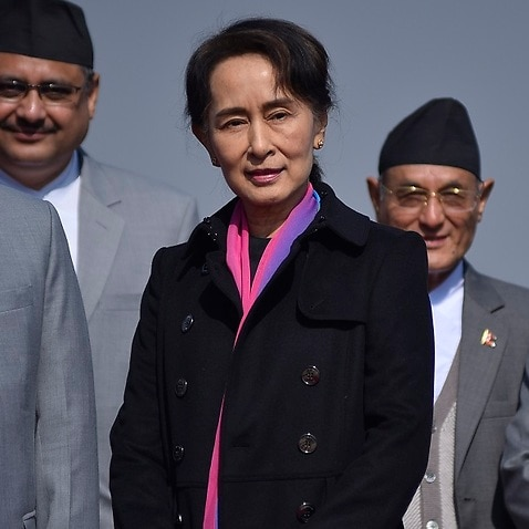 Aung San Suu Kyi has called for a