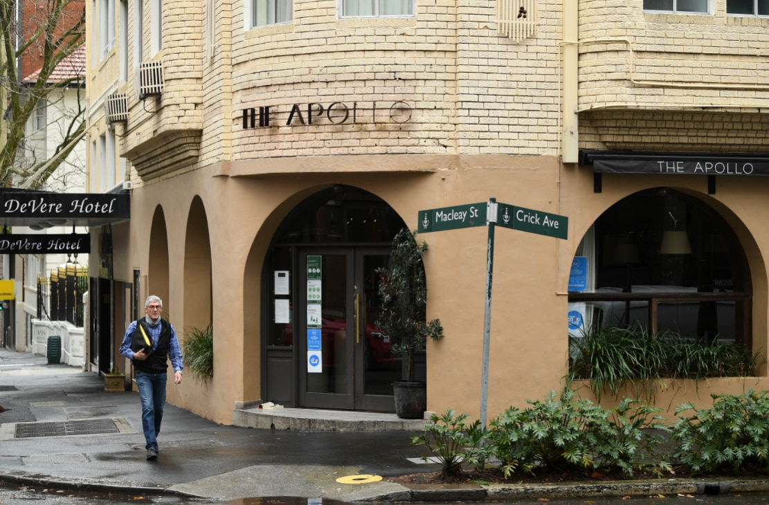 A general view of the Apollo restaurant at Potts Point in Sydney, Tuesday, July 28, 2020.