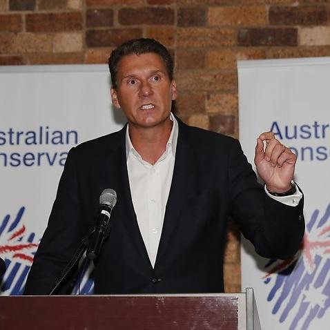 Australian Conservatives Leader Senator Cory Bernardi speaks.
