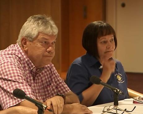 John Paterson at the senate hearing held in Darwin.