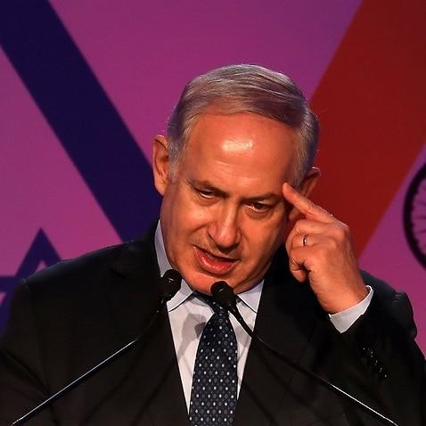The  Israeli Prime Minister Benjamin Netanyahu.