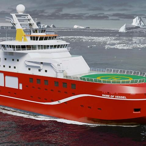 A British polar research ship