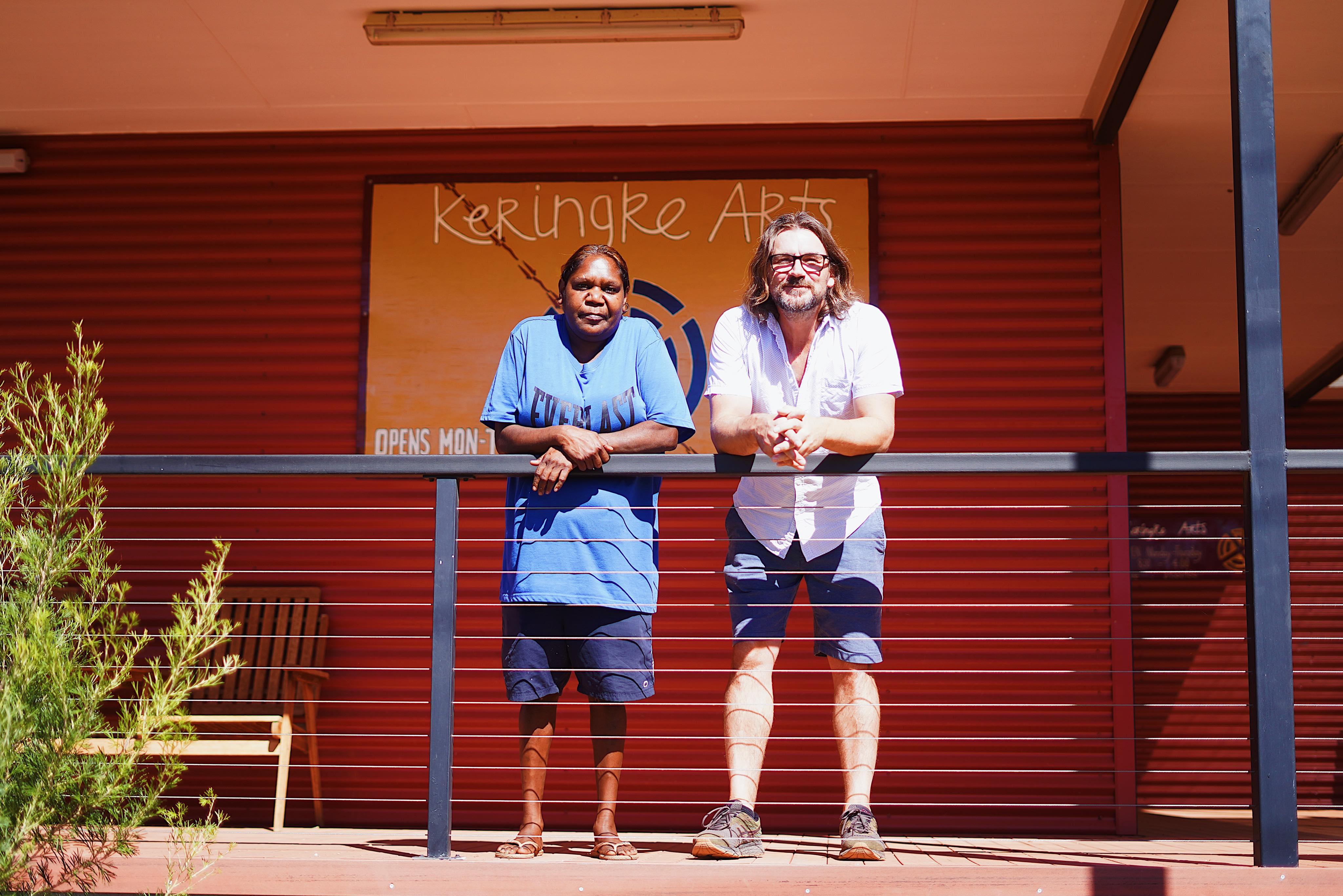 "Keringke Arts has been called the ""beating heart"" of Ltyentye Apurte by the centre's manager Bryce Hartnett."