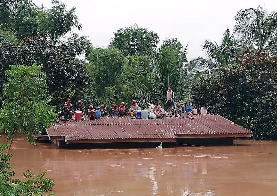 In Laos, the dam burst