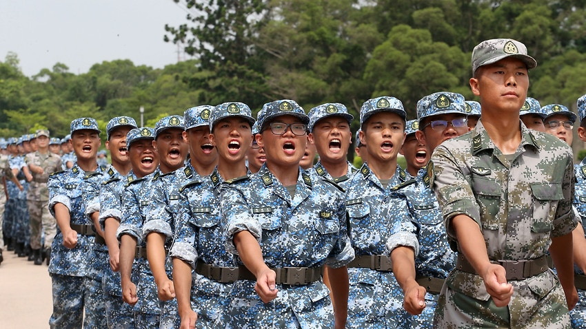 Image for read more article ''Clear warning':  China cautions Hong Kong protesters as it masses troops'