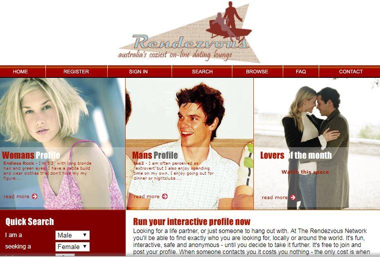 Rendezvous Dating Website in 2005.