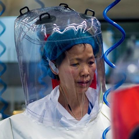 A file photo of Chinese virologist Shi Zhengli inside the P4 laboratory in Wuhan, China, 23 February, 2017.