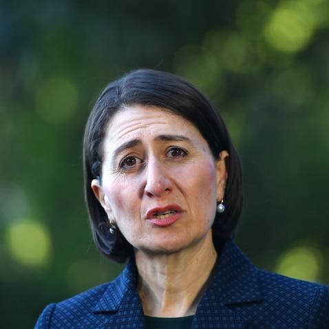 NSW Premier Gladys Berejiklian addresses media during a press conference in Sydney, Friday, April 24, 2020