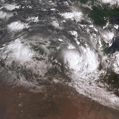 A supplied image of Tropical Cyclone Owen on Friday.