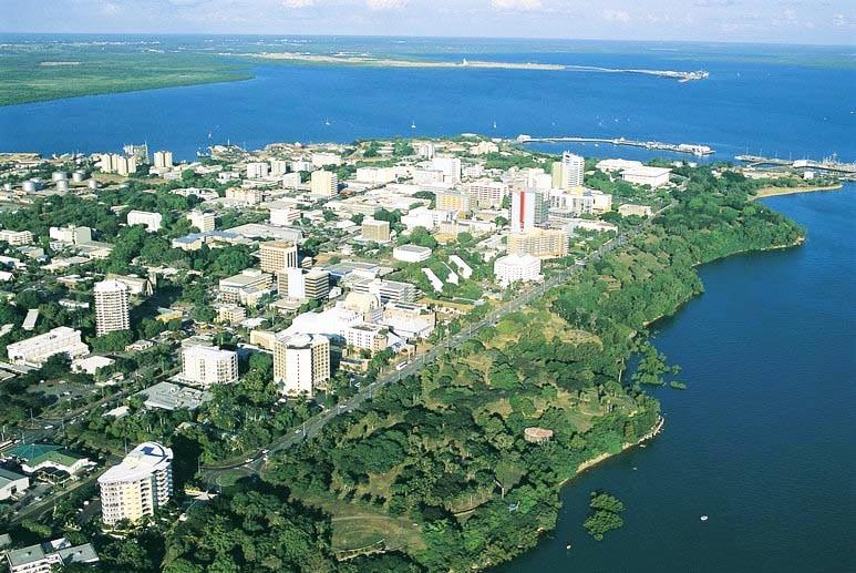 Aerial Shot of Darwin City, Darwin.
