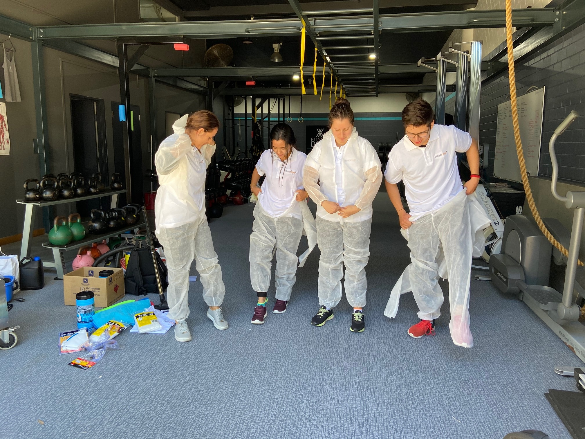 Cleaners are being hired to scrub down surfaces where pathogens might live.