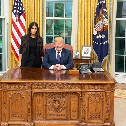 Reality TV personality Kim Kardashian West in a picture tweeted by US President Donald Trump