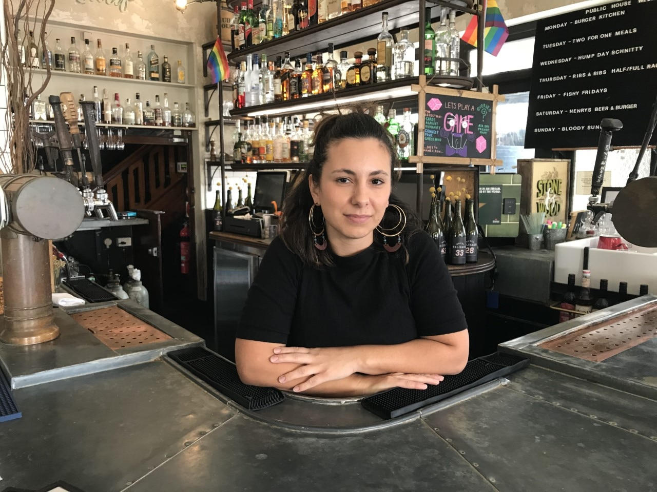 Italian employee Laura Persiani is glad to be back at work at Hotel Palisades.