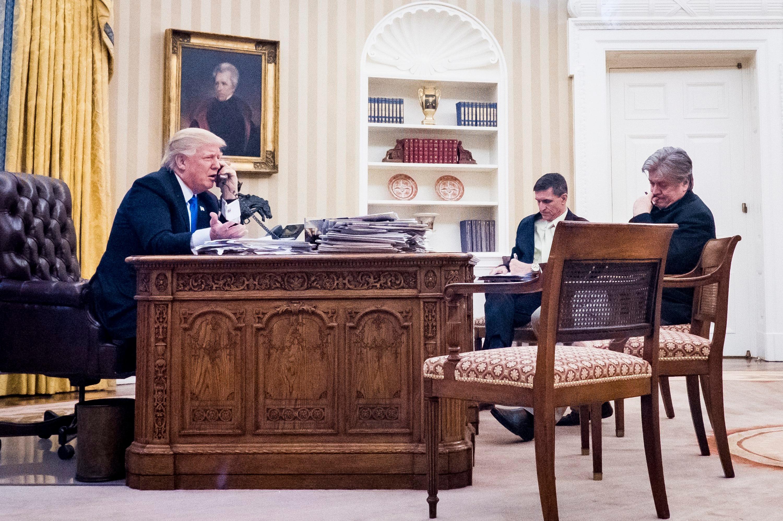 National Security Advisor Michael Flynn Senior Counselor to the President Steve Bannon
