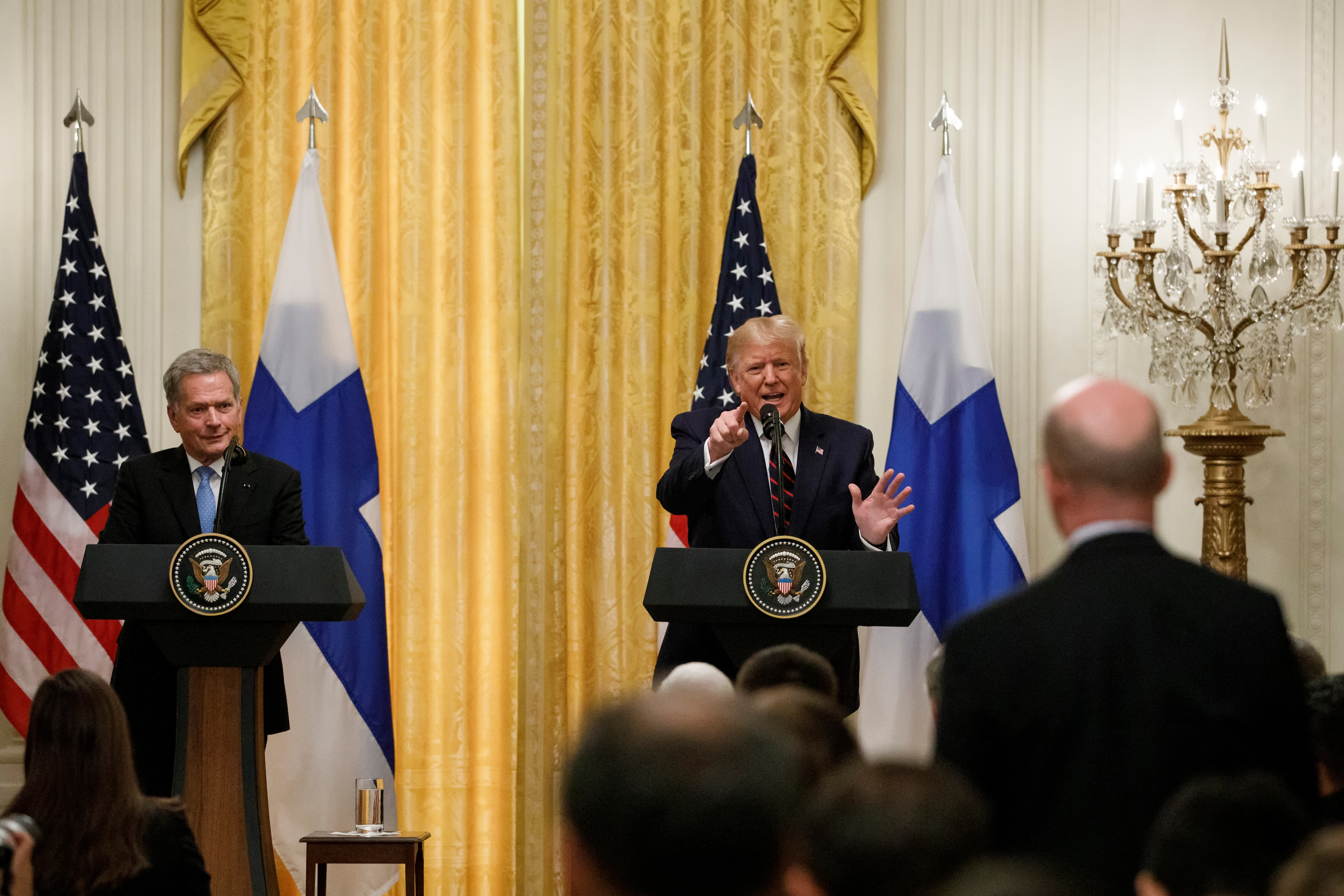 Trump holds joint news conference with Finland's president