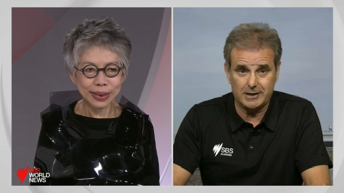 Lee Lin Chin and Michael Tomalaris.