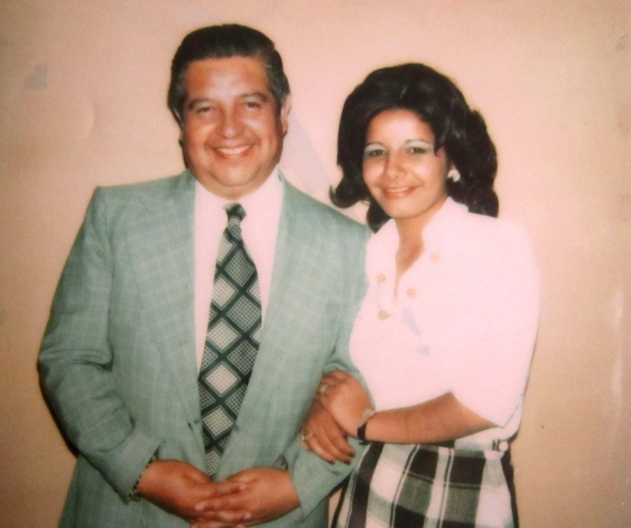 Adriana Rivas with Manuel Contreras, the head of DINA.
