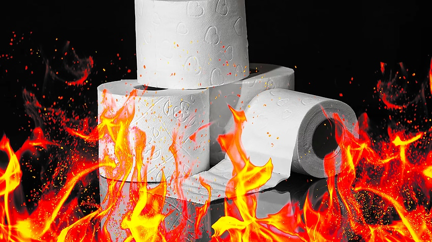 Image for read more article 'Truck full of toilet paper catches fire on Brisbane bridge, as coronavirus-inspired toilet paper shortage continues'