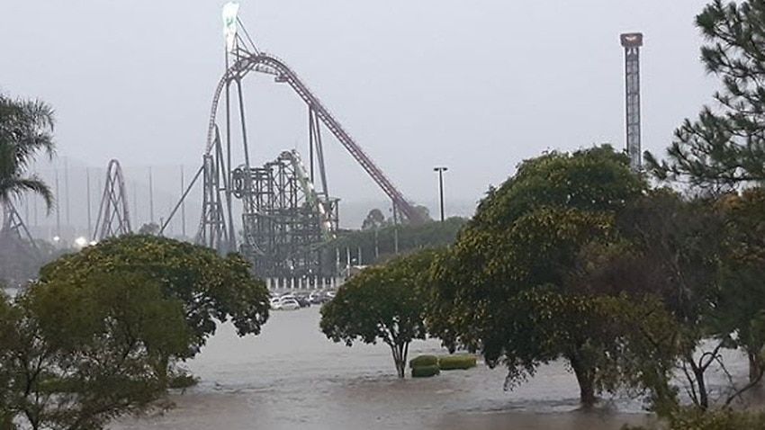 Flash floods have inundated the Gold Coast and parts of Brisbane