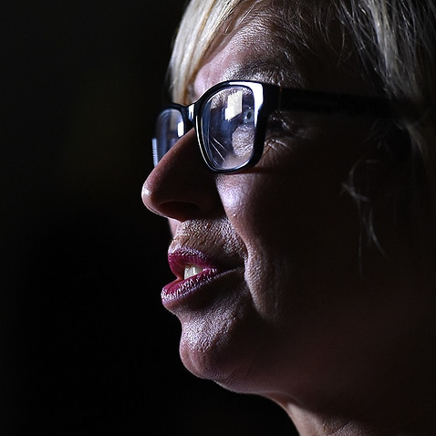 Domestic violence campaigner Rosie Batty at an Australian of the Year morning tea at The Lodge in Canberra on Monday, Jan. 25, 2016. (AAP Image/Mick Tsikas) NO ARCHIVING