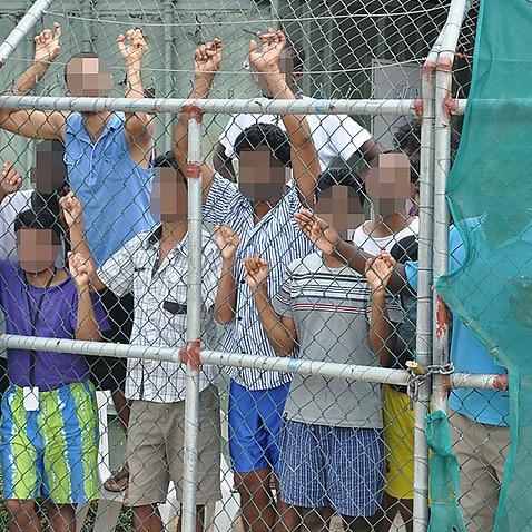 Asylum seekers at the Manus Island detention centre