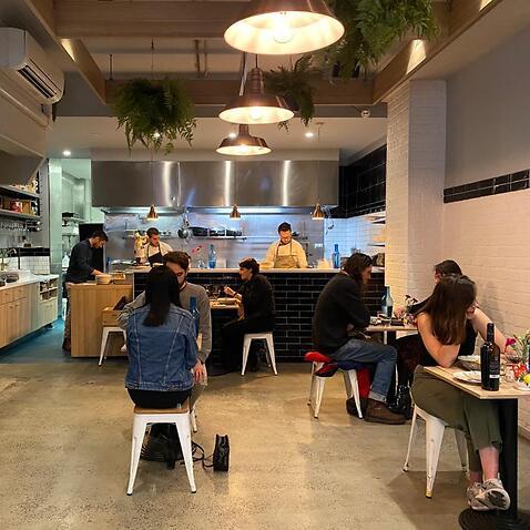 Un'immagine di un ristorante di Sydney a prova di distanziamento fisico
