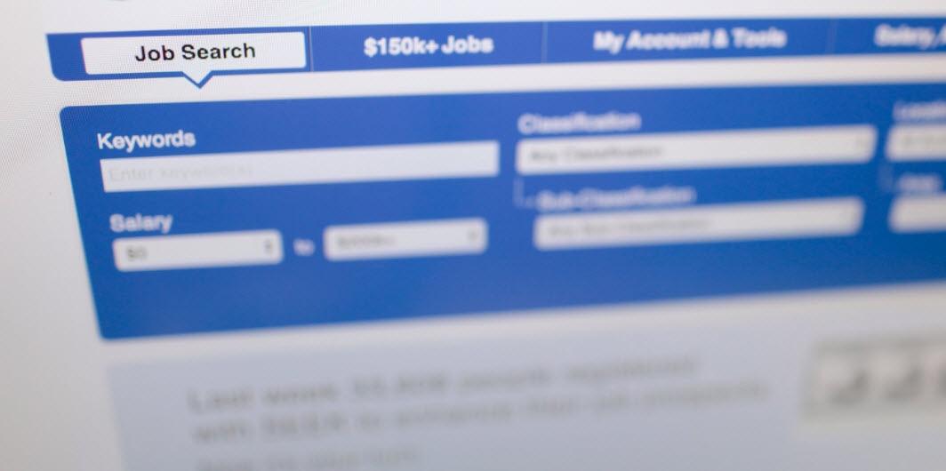 Website of online job search engine.