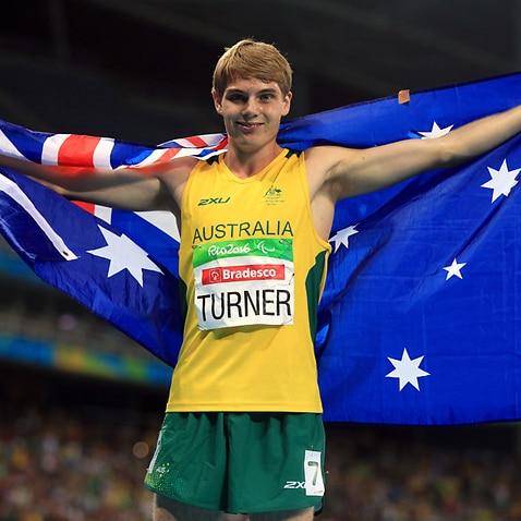 Australia's James Turner wins the Men's Athletics 800m T36 final