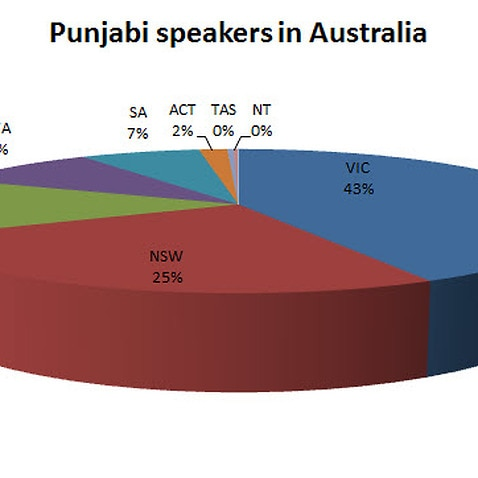 Which states do Punjabi speakers reside in