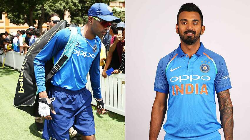Hardik Pandya, left, and KL Rahul have been ordered home by the BCCI over comments about women.