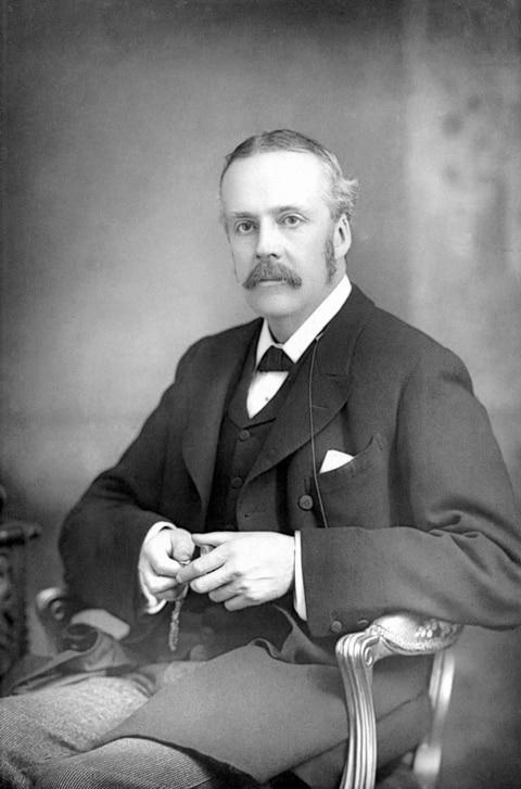 Portrait of Arthur James Balfour.