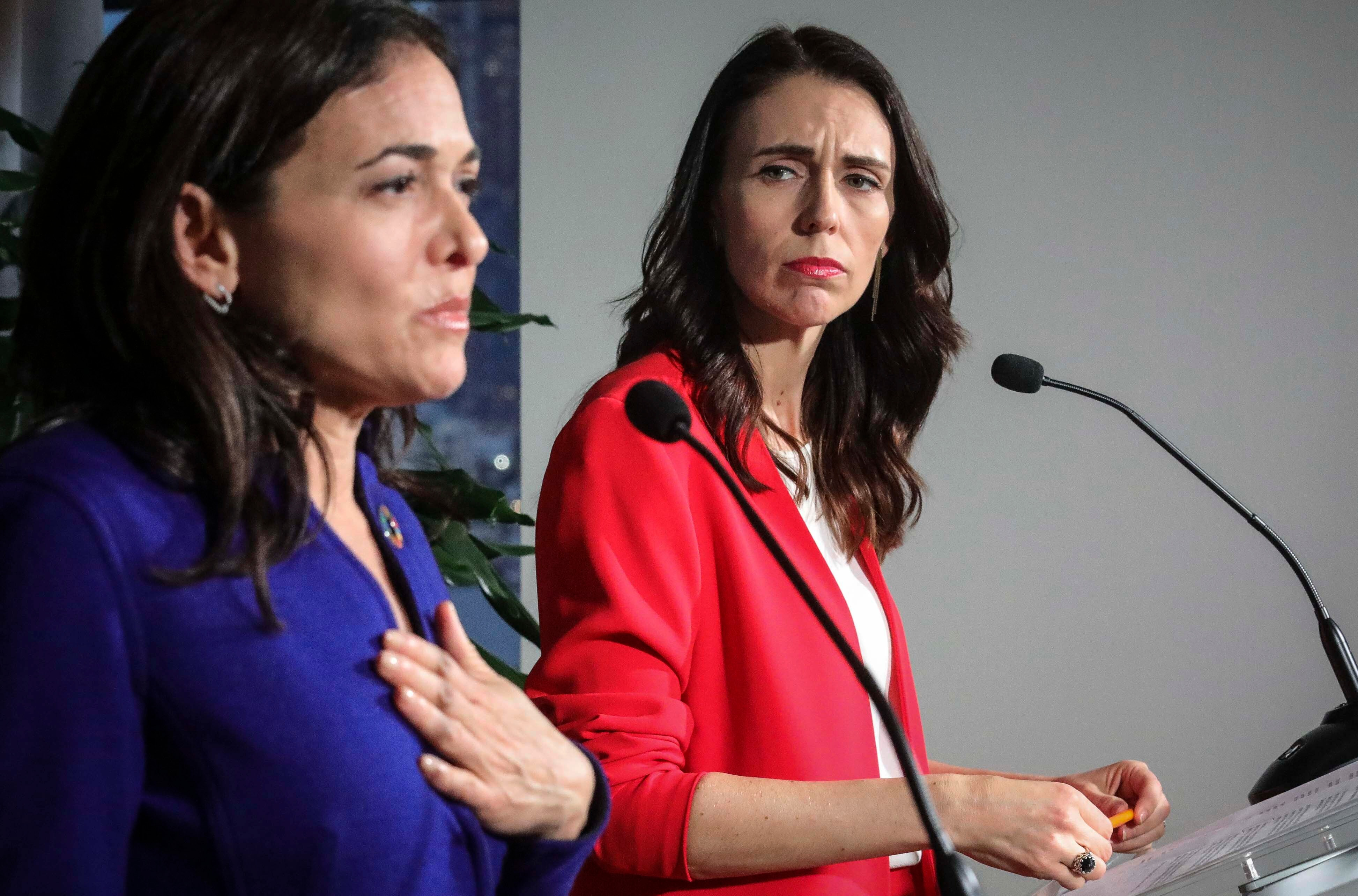 New Zealand Prime Minister Jacinda Ardern at the UN climate action summit in New York.