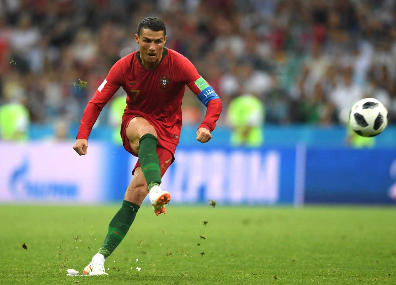 Cristiano Ronaldo of Portugal scores his team s third goal during the 2018  FIFA World Cup Russia 0a5f643ef34
