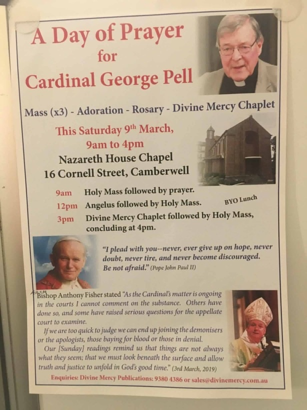 "A flyer for the ""Day of Prayer"" that has since been cancelled."