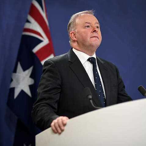 Australian Opposition Leader Anthony Albanese speaks to the media in Sydney