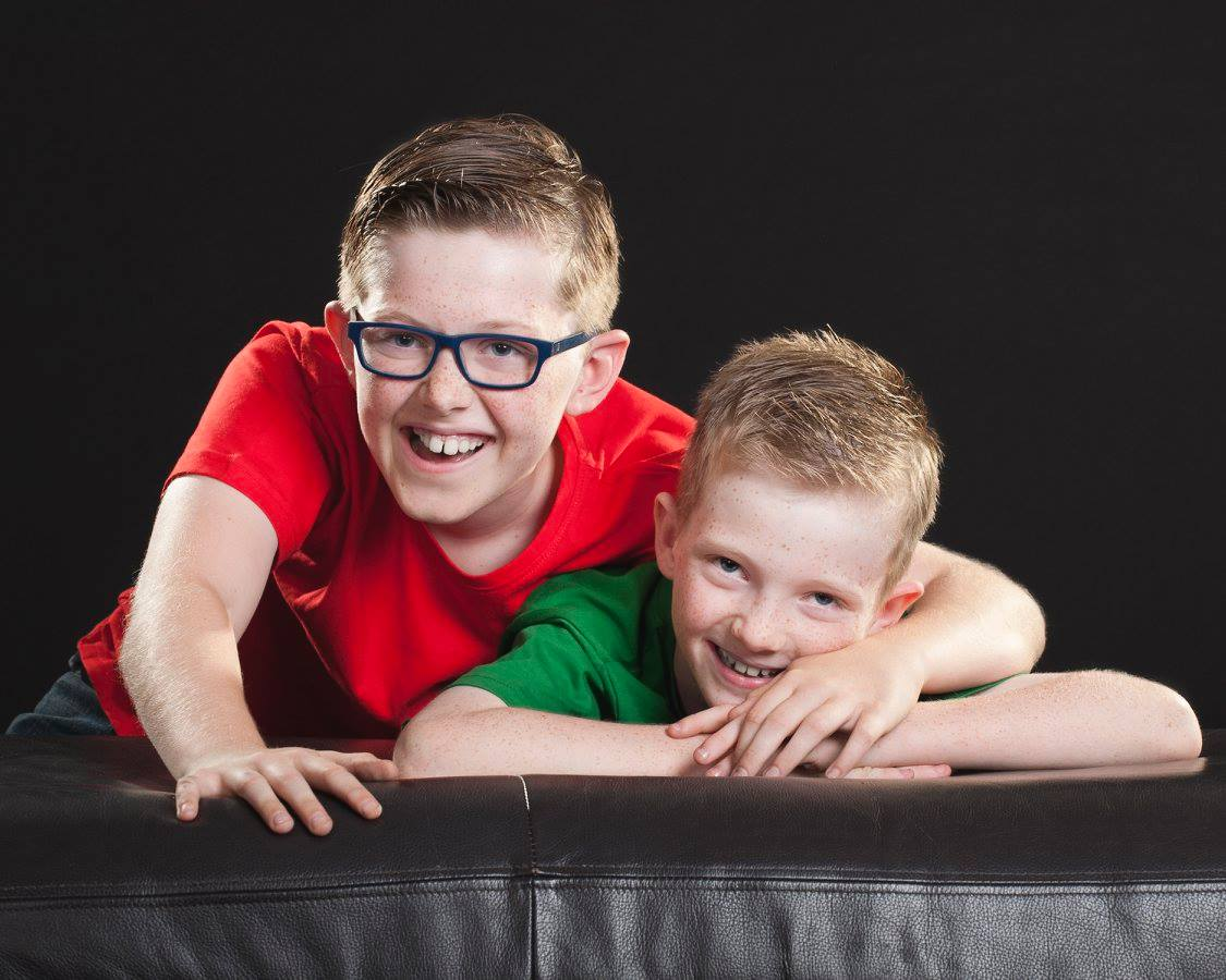 Kaleb and Aidan were in foster care for nine years before they were adopted by Brendan and Paul Upcroft.