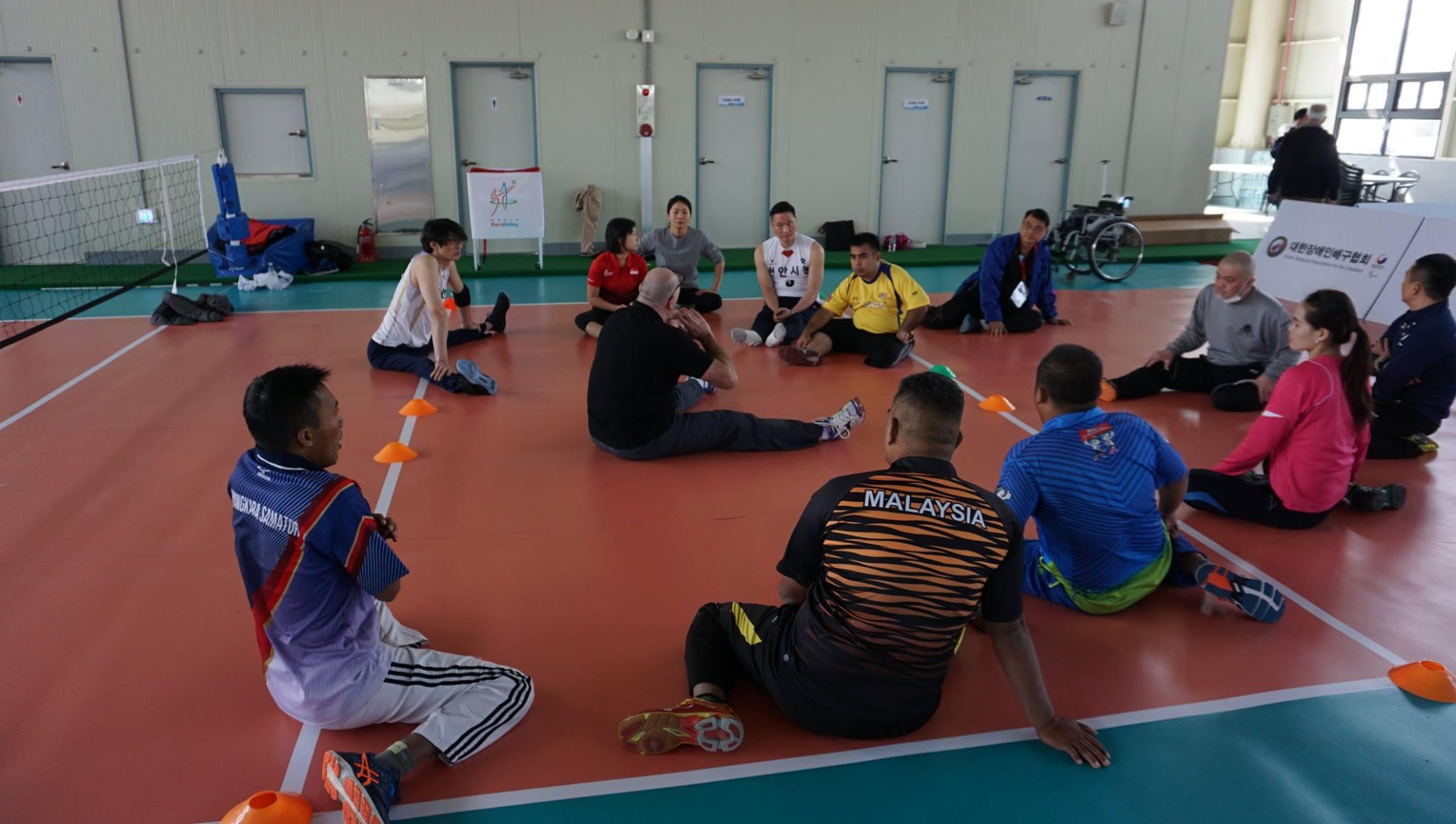 Weiping Tu sitting volleyball