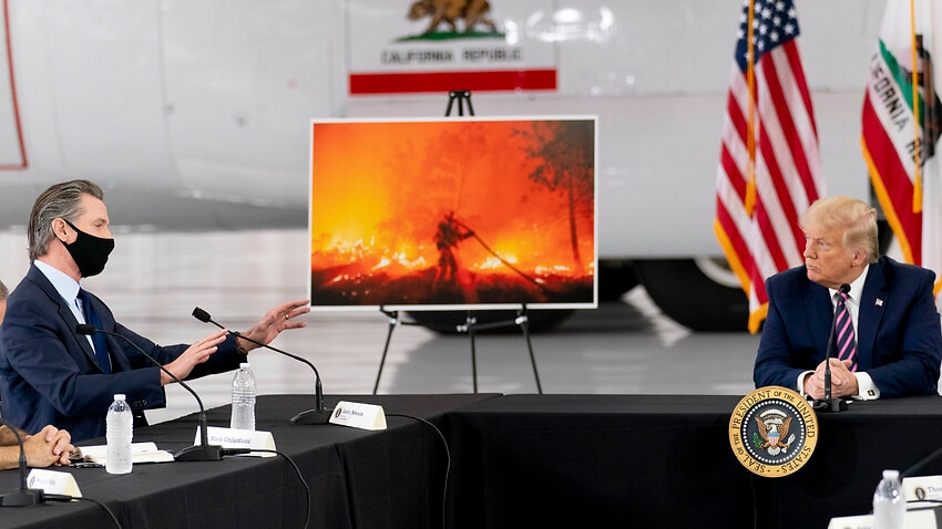 Image for read more article ''Climate arsonist': Joe Biden attacks Donald Trump's climate strategy as President insists it will start getting cooler'