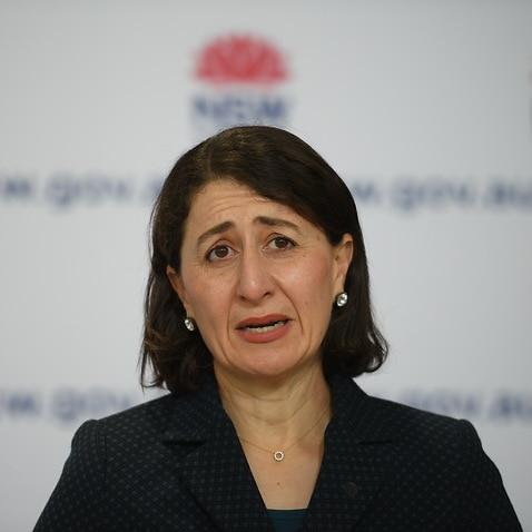 NSW Premier Gladys Berejiklianspeaks to the media.