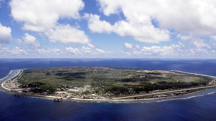 An aerial view of Nauru.