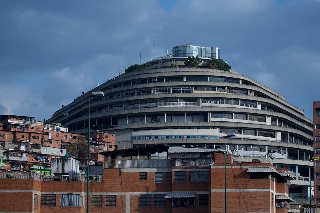 The Helicoide in Caracas where Joshua Holt was being held.
