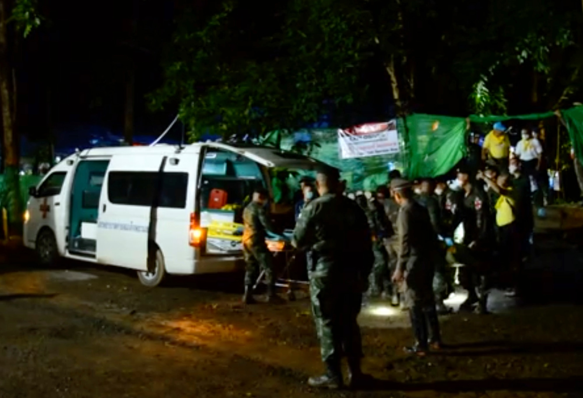 First Thailand boys rescued two weeks after being trapped in cave