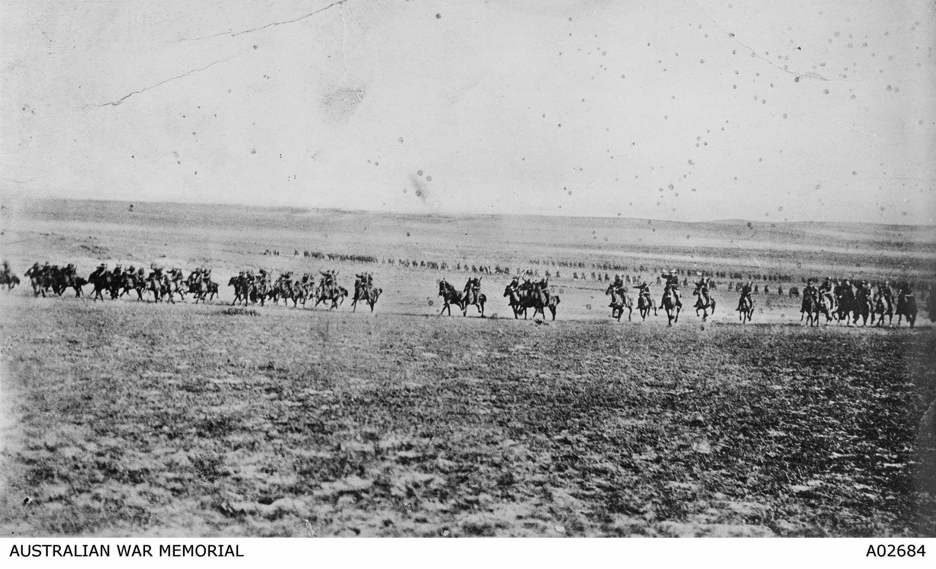 A charge of the 4th Light Horse Brigade