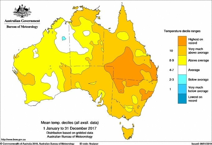 Australia swelters through one of hottest years on record