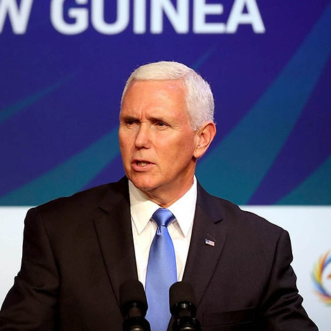 Mike Pence announces the United States will partner with Australia and Papua New Guinea at the Lombrum Naval Base on Manus Island.
