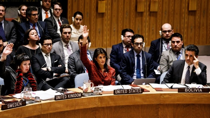 Ambassadors to the UN during a Security Council vote on the suspected Syrian chemical attack