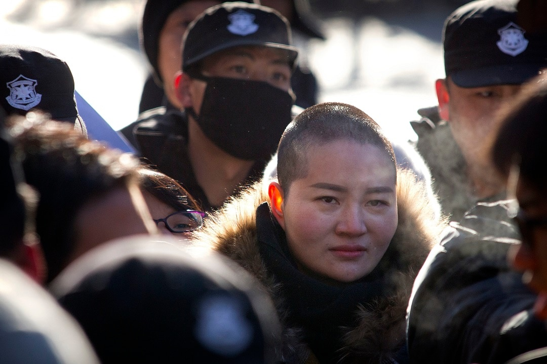 Wang Quanzhang's wife Li Wenzu was prevented from attending her husband's trial.