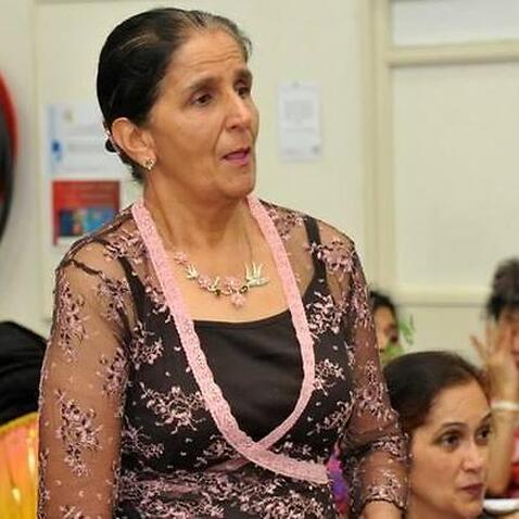 Kalwant Kaur, a breast cancer educator with the Pink Sari Project