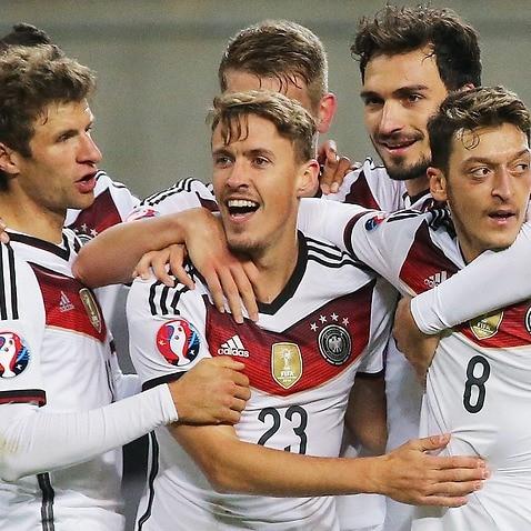 Germany Max Kruse Manuel Neuer EURO 2016 Georgia Poland