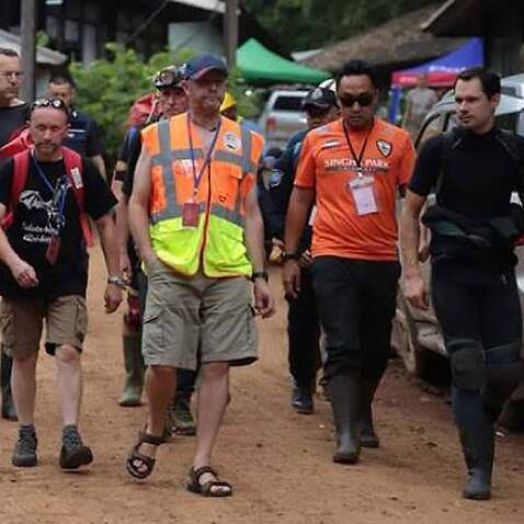 Volunteers from many countries have gathered in Chiang Rai to assist in the rescue efforts.